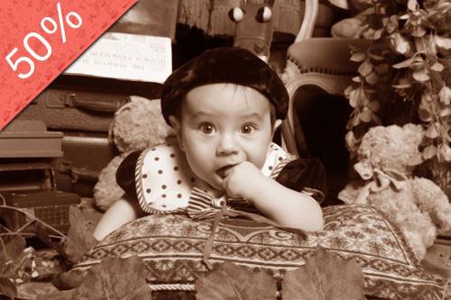 Sesión Fotográfica para Bebes al Estilo Antiguo