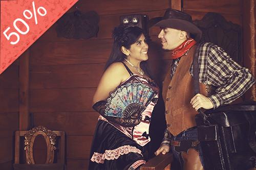 Sesión Fotográfica para Enamorados al Estilo Lejano Oeste