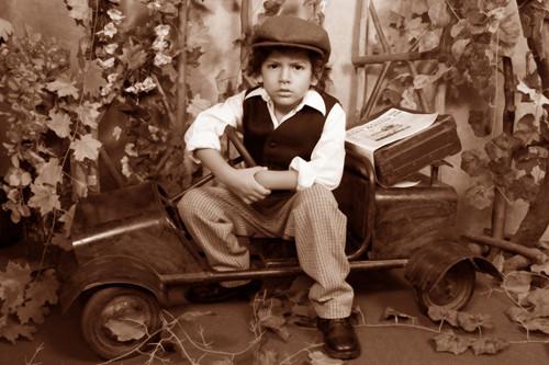 Sesión Fotográfica para Niños al Estilo Antiguo