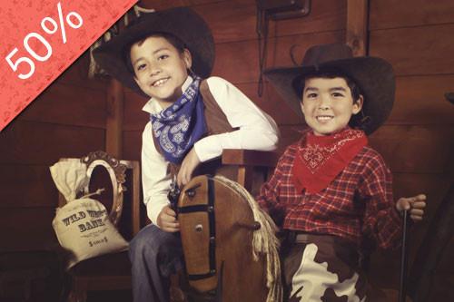 Sesión Fotográfica para Niños al Estilo Lejano Oeste