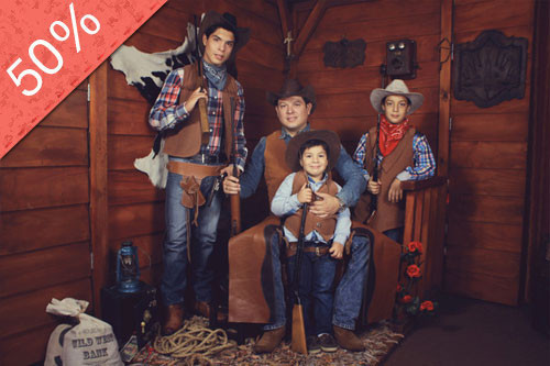 Sesión Fotográfica Familiar al Estilo Lejano Oeste