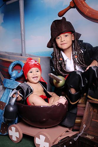 Sesión Fotográfica Mágica para Niños y Bebes al Estilo Piratas
